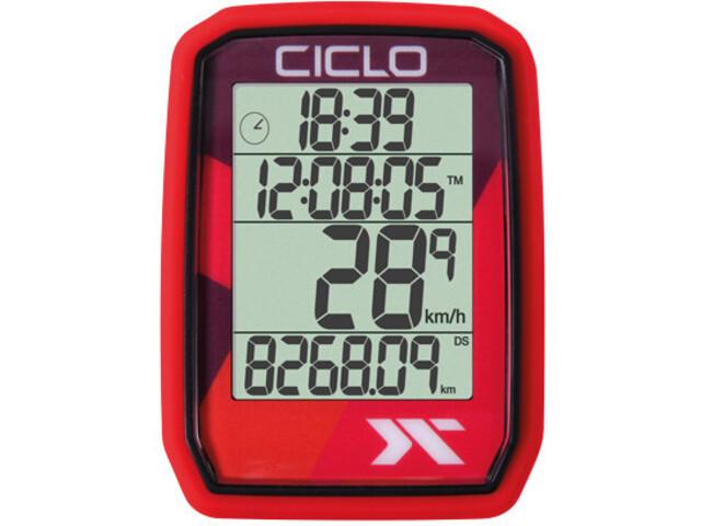 Ciclosport Protos 205 Fietscomputer, red